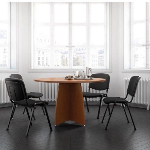 Ensemble Circular Meeting Table Panel Base