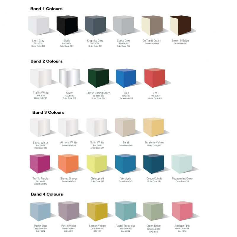 Silverline Finishes Colours