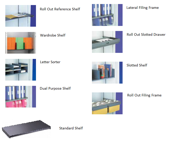 Silverline Internal Fittings Kontrax Executive & Open Fronted Cupboards