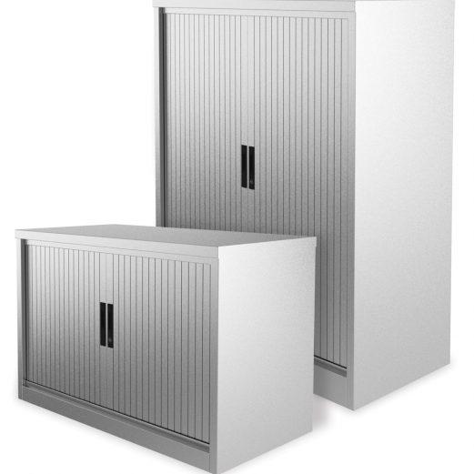 Silverline Kontrax Tambour Cupboards 800mm Wide