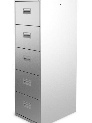 Silverline 5 Drawer Filing Cabinet