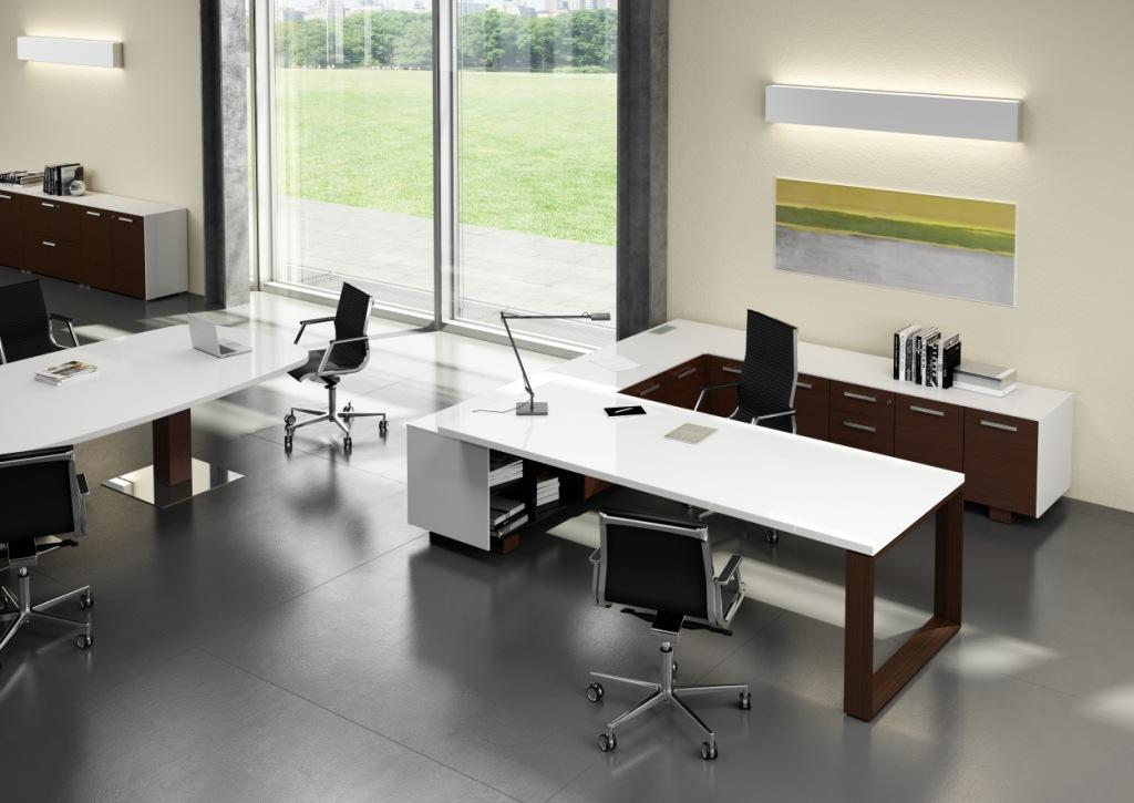 Arche Executive Desk Lacquered Top Allard Office Furniture