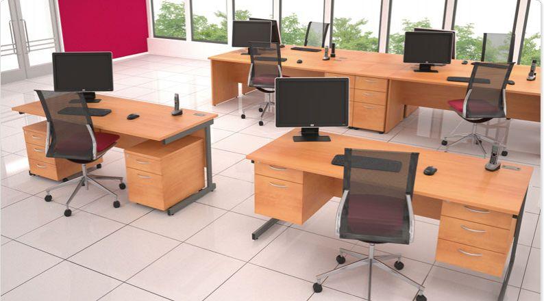 Satellite Straight Desk Cantilever Allard Office Furniture