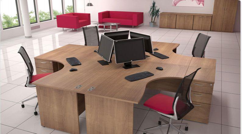 Satellite Crescent Desk Panel End Leg Allard Office