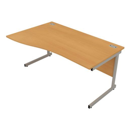 Satellite Gold Wave Desk Cantilever Leg