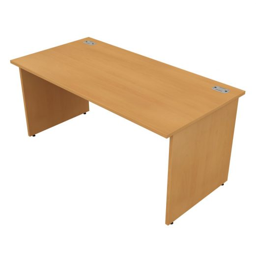 Satellite Gold Straight Desk Panel End Leg