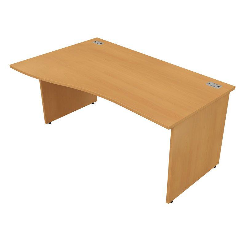 Satellite Gold Wave Desk Panel End Leg
