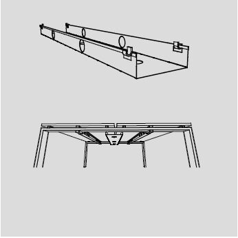 Double Cable Tray for Astro Arch Bench Systems