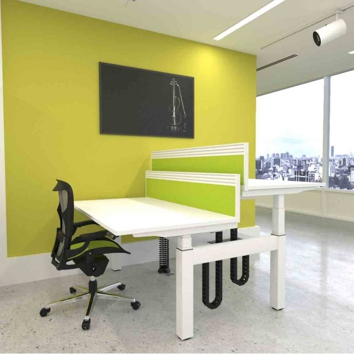 HWK Gravity Double Electric Sit Stand Desks