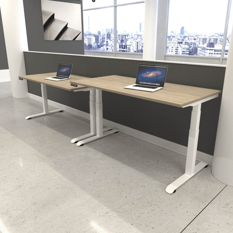 HWK Kick & Click Electric Sit Stand Desks