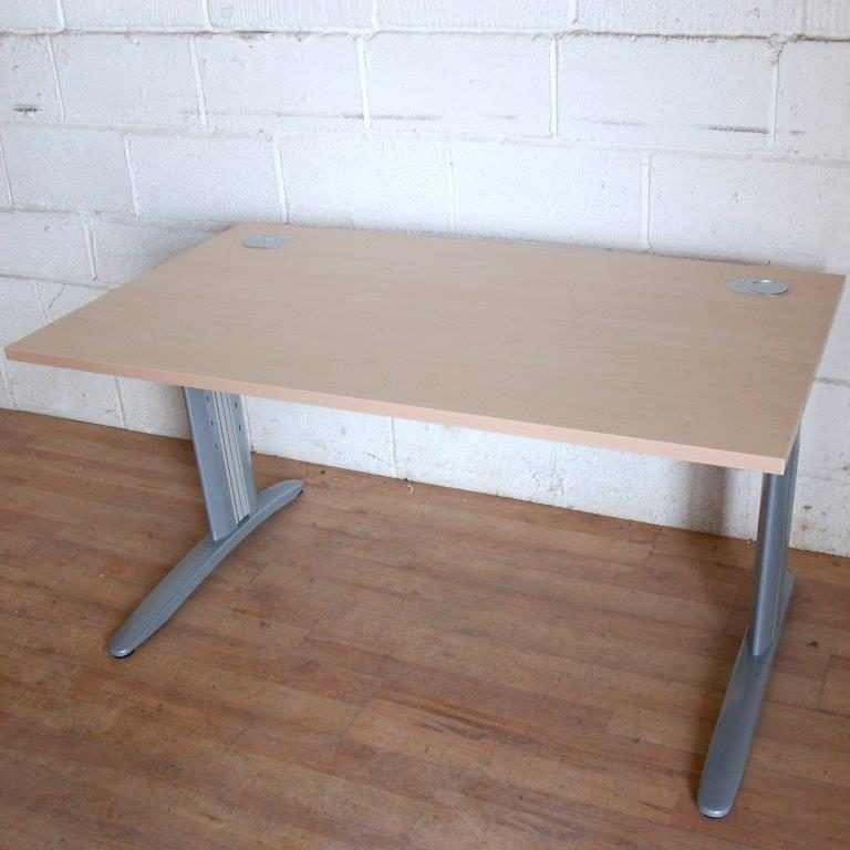 Special Offer Maple Workstation Desk 140cm 11022
