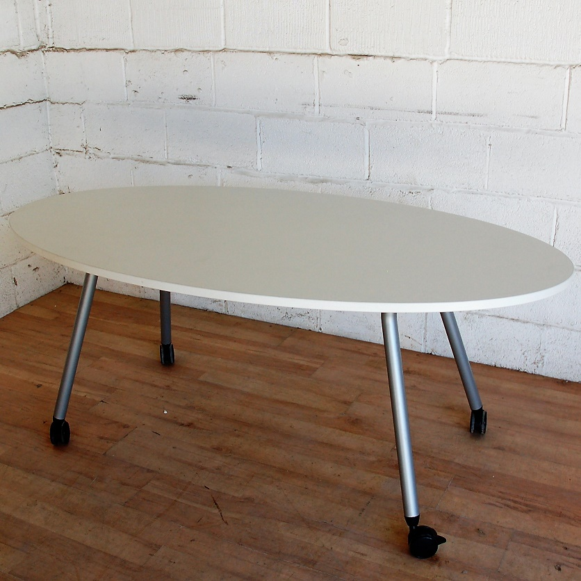 sold steelcase oval meeting table mobile 15024 allard office furniture