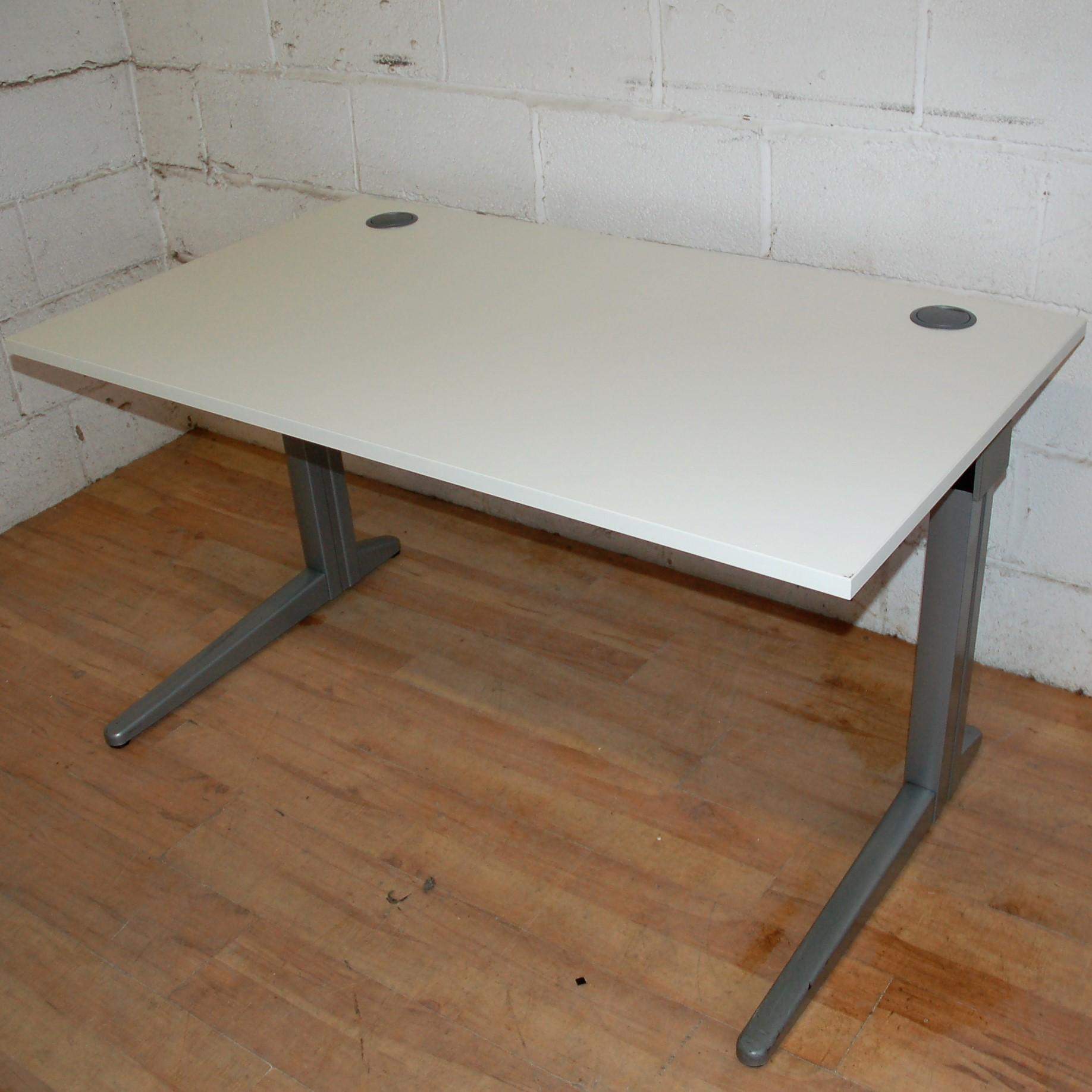 sturdy workstation desk white 120cm 11048 allard office furniture