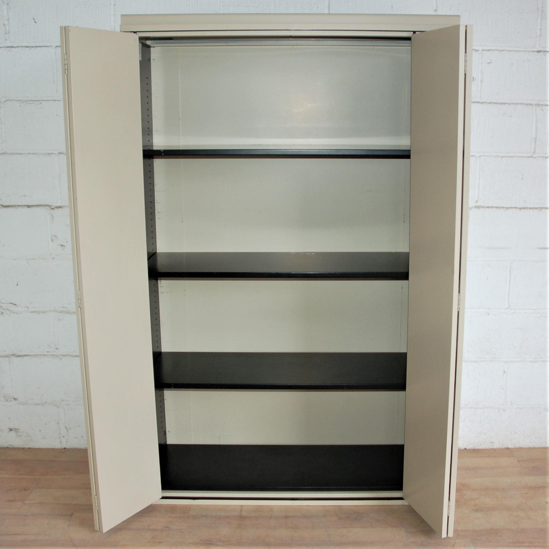 Large Folding Door Cupboard Beige 5052 Allard Office