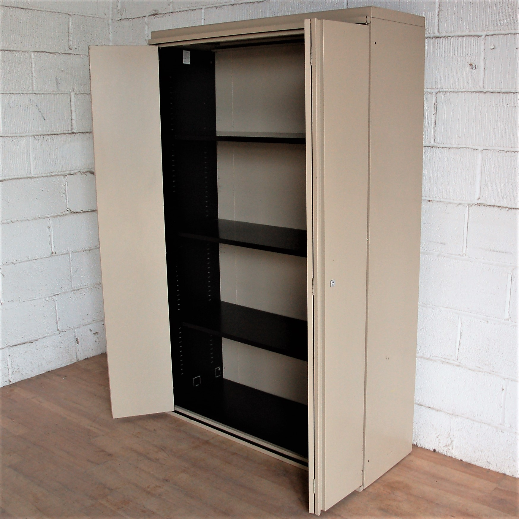 Large Folding Door Cupboard Beige 5052 Allard Office