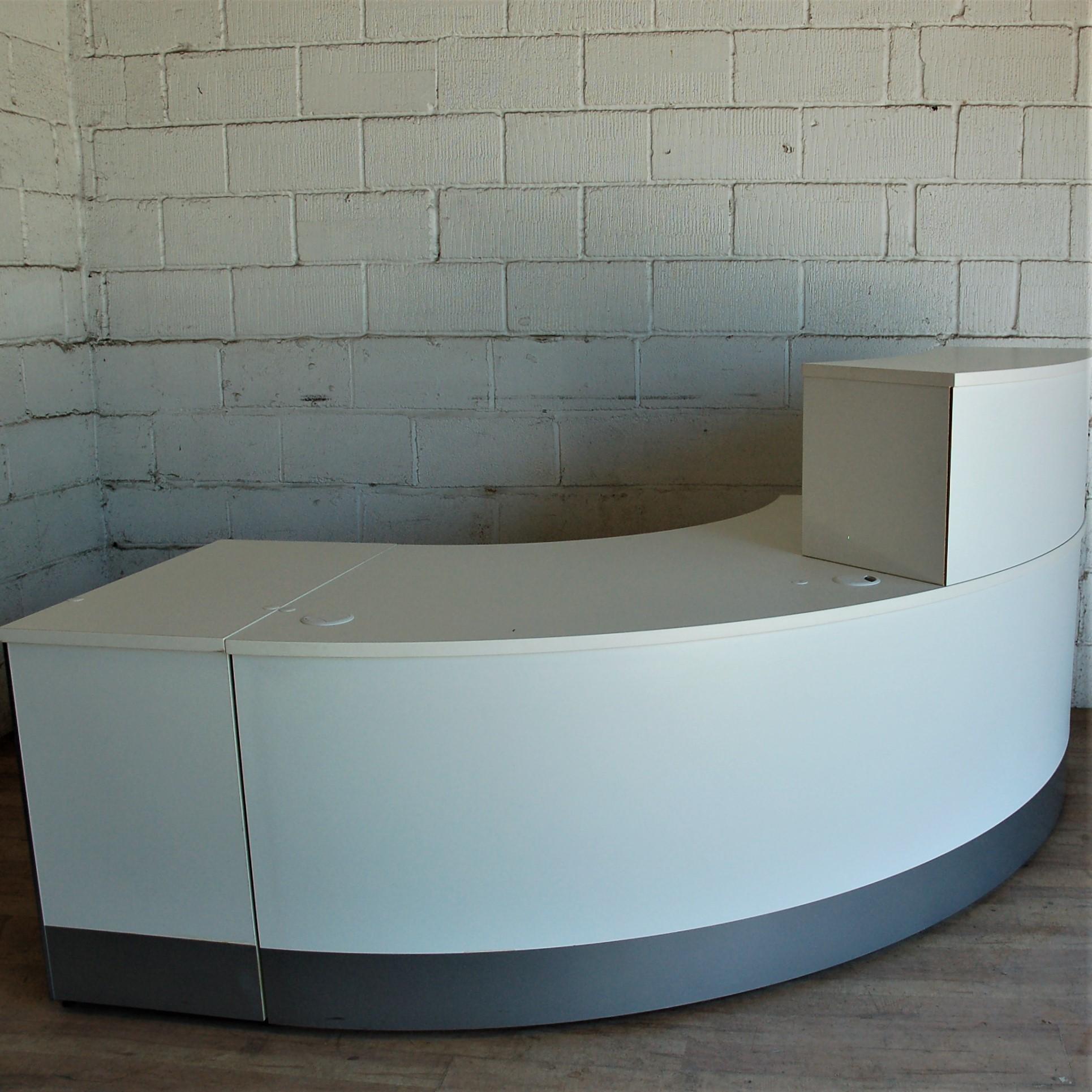Reception Desk White Curved 13018 Allard Office Furniture