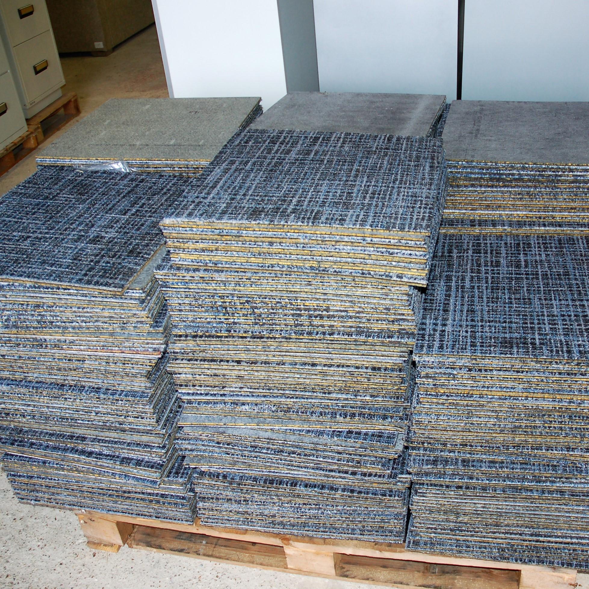 Carpet Tiles Blue Patterned 9045 Allard Office Furniture