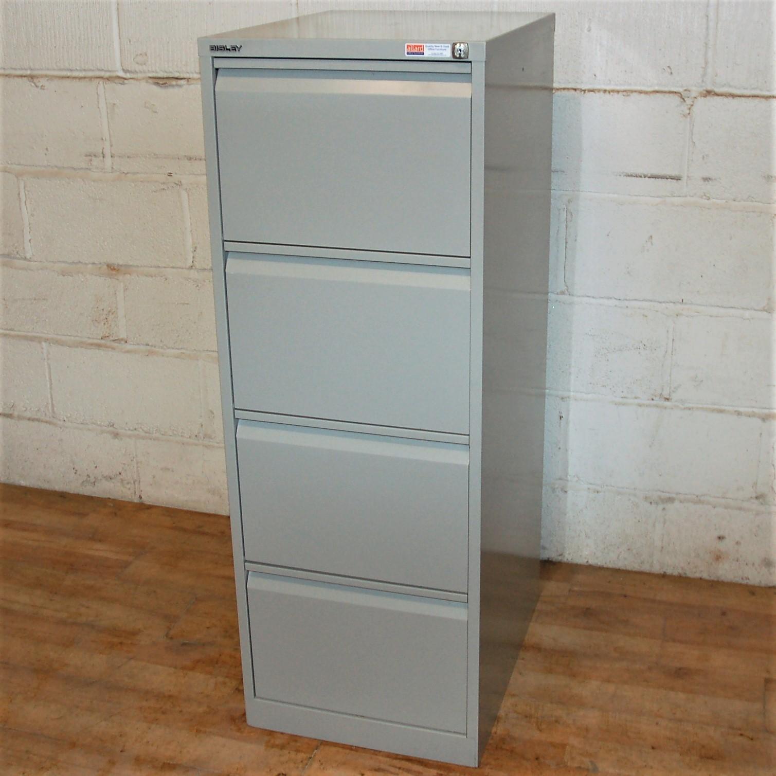 BISLEY 4dwr Filing Cabinet Grey 6080