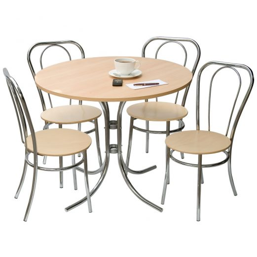 Deluxe Beech Bistro Set Table & 4 chairs