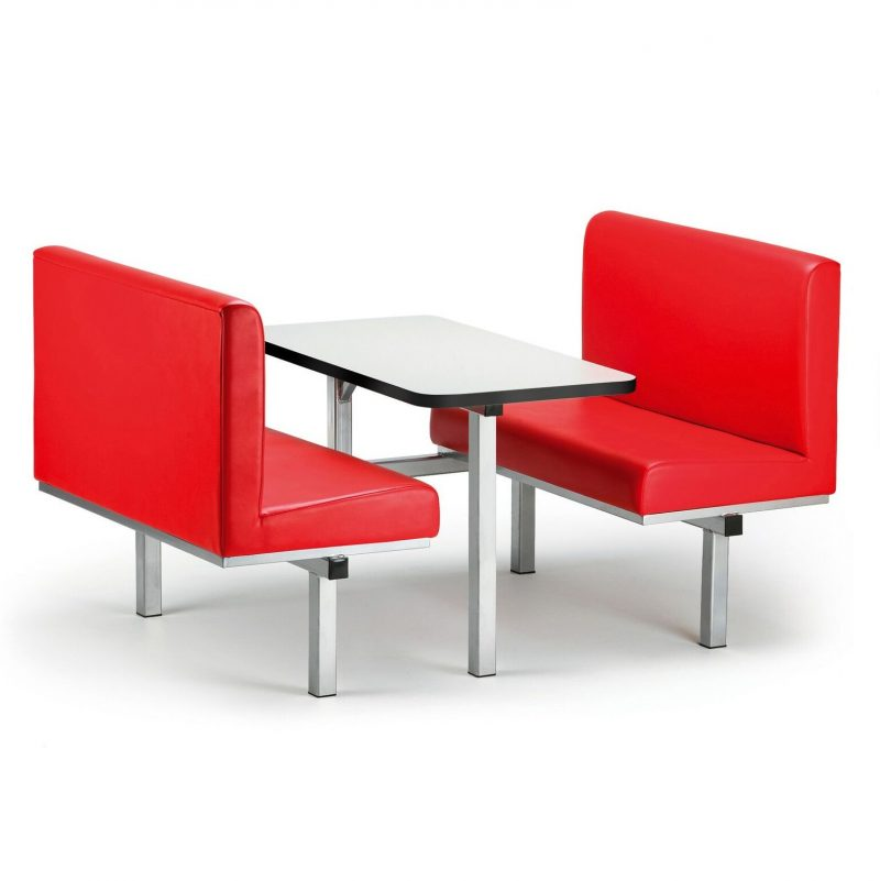 Cupid 38 Fabric Fast Food Seating Units 2,4,6 Person Options