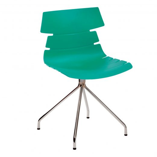 Hetton pyramid Cafe Chairs 9 Colours + 2 Leg Styles