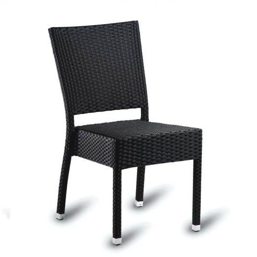 Kingsley Outdoor Side Chair Stackable PE Resin Weave