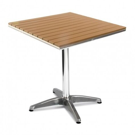 settle Outdoor Plastic Table Square Cafe Bistro Tables