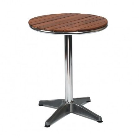 Settle Solid Teak Outdoor Round Cafe Bistro Table