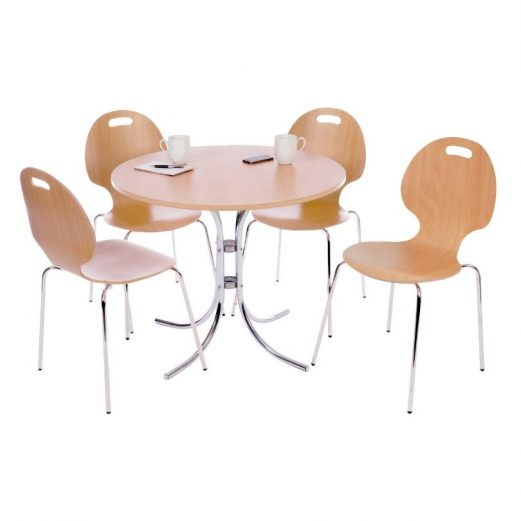 Beech Cafe Bistro Set - Table & 4 chairs
