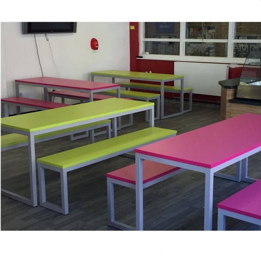 Urban Dinning Bench Sets - Canteen Cafe Tables