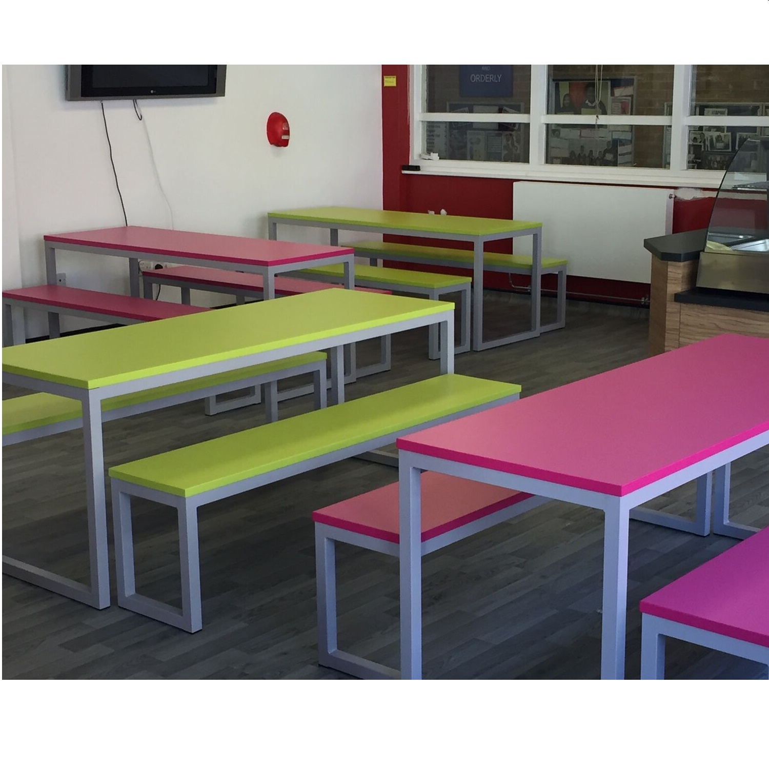 Urban Dinning Bench Sets Canteen Cafe Tables Allard Office