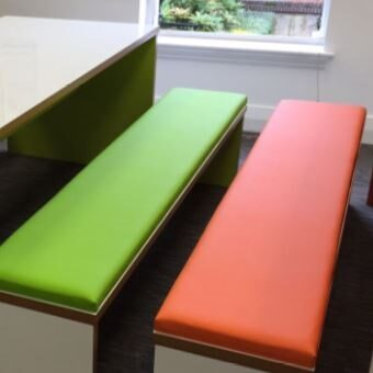Urban Dinning Bench Sets - Upholstered bench Pad