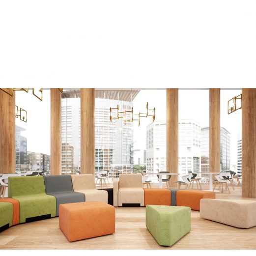 CUBE Low Level Modular Reception Chairs