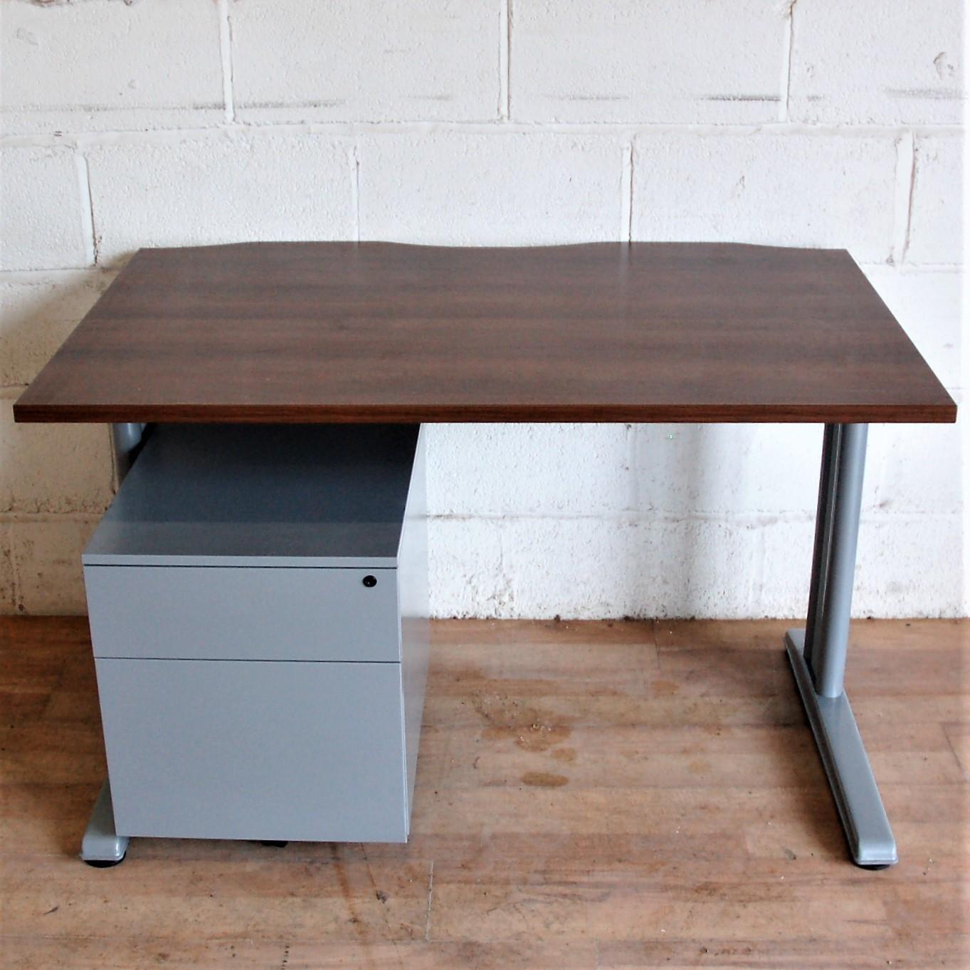 Sturdy Desk 120cm Wenge Silver 11134 Sturdy Desk 120cm