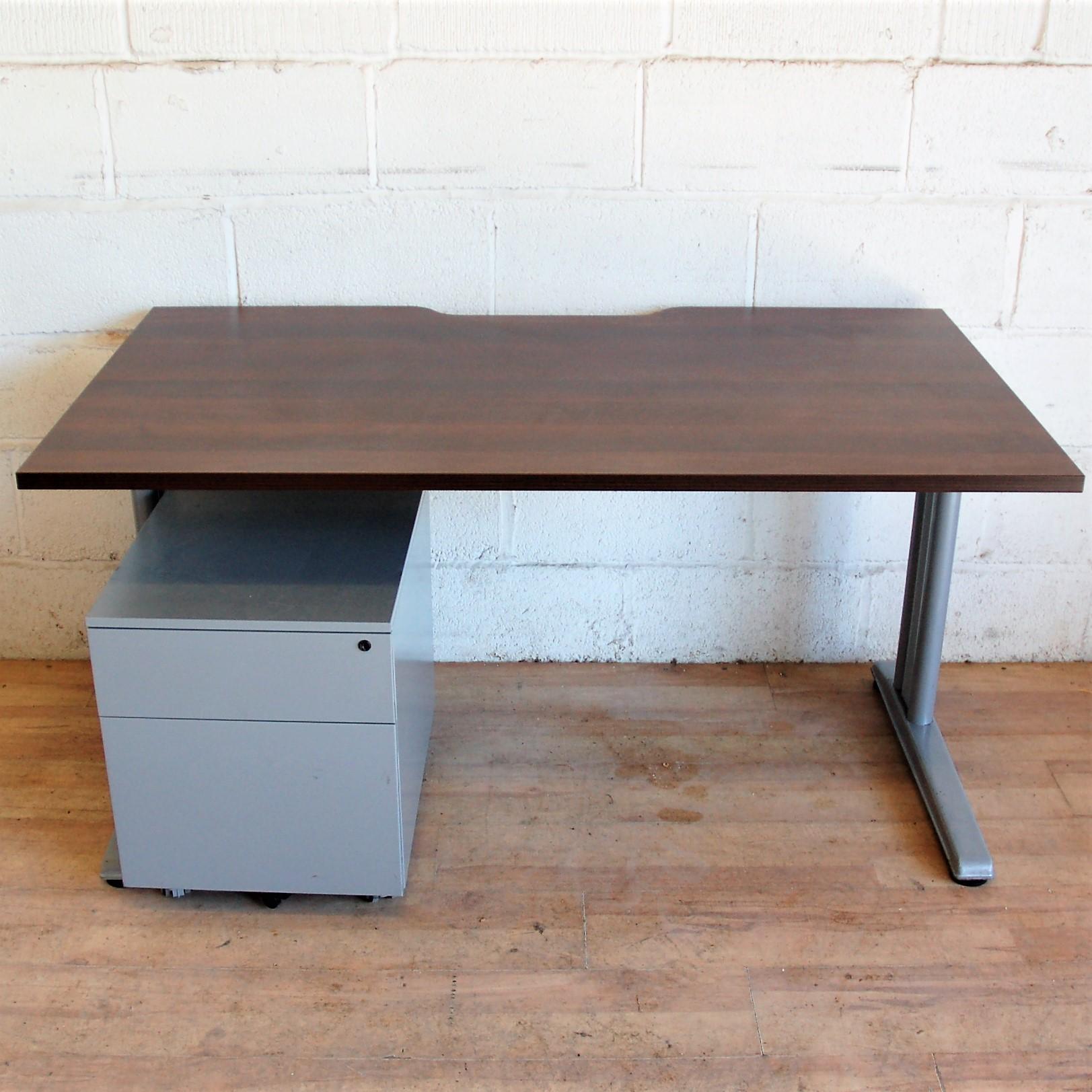 Sturdy Desk 140cm Wenge Silver 11133 Sturdy Desk 140cm