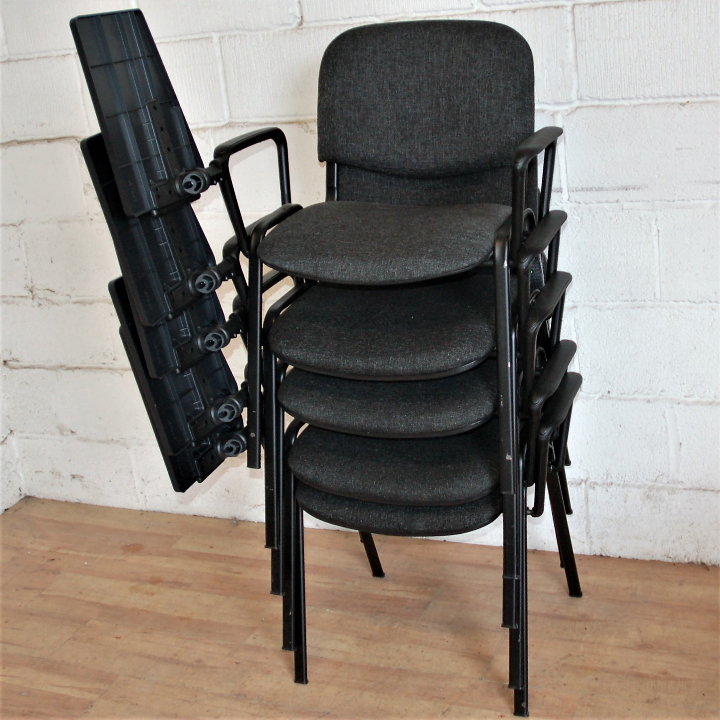 Set of 5 Stacking Chairs with Student Table 1116 Allard