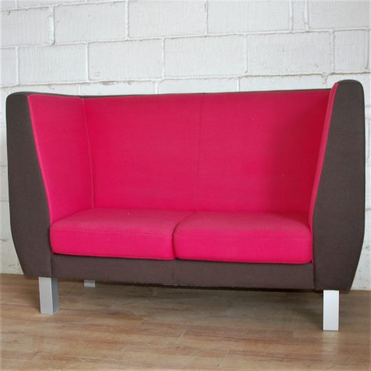 Polly Office Reception Sofa Pink Soft Seating Breakout 3029