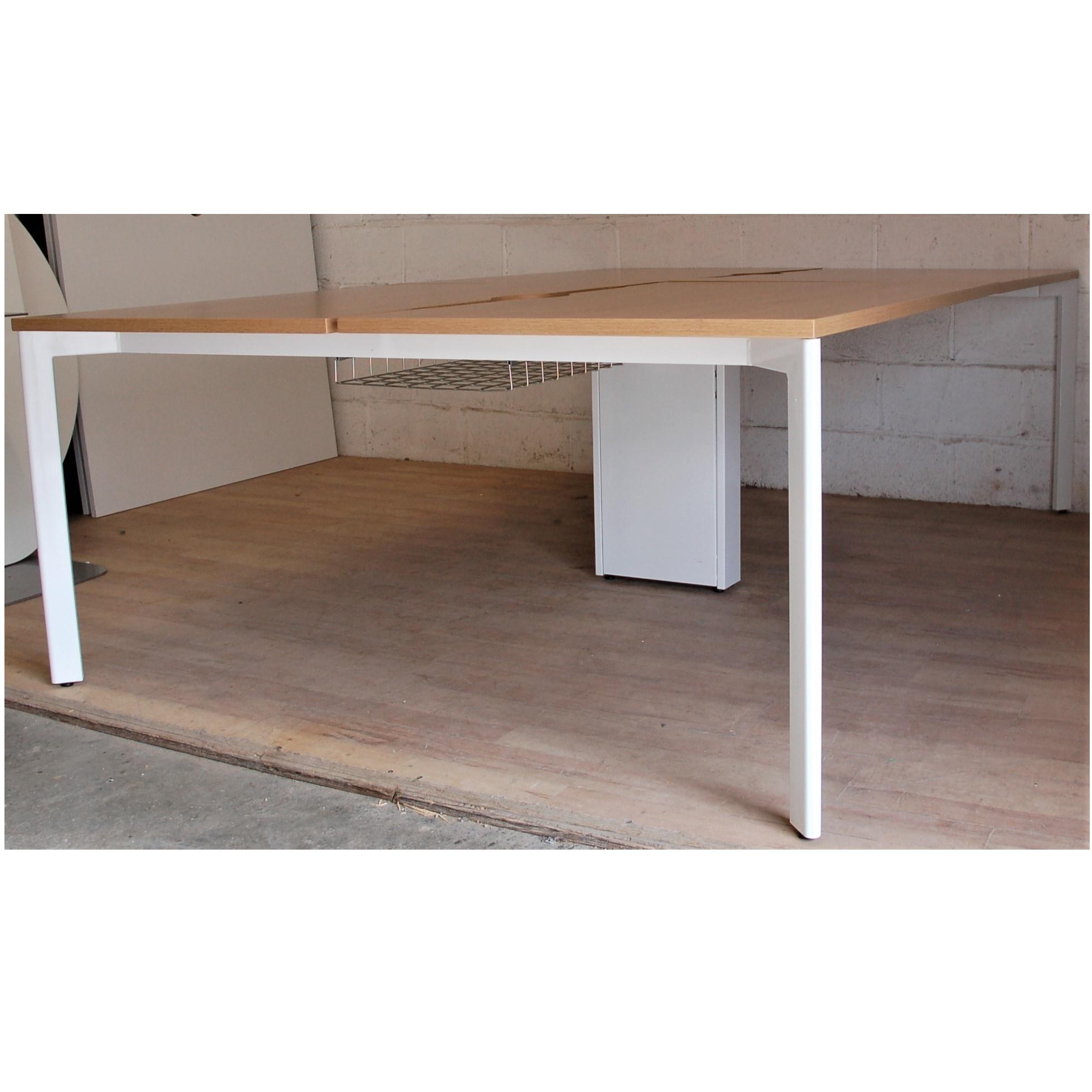 Wondrous Sven Christiansen X Range Bench Desk Oak White 11139 Cjindustries Chair Design For Home Cjindustriesco