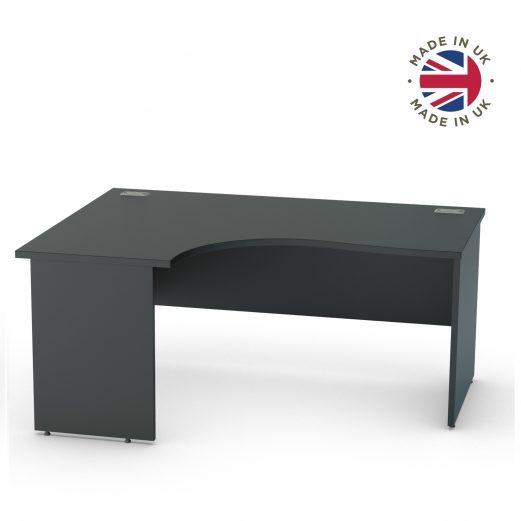 Black Panel End Crescent Desk,