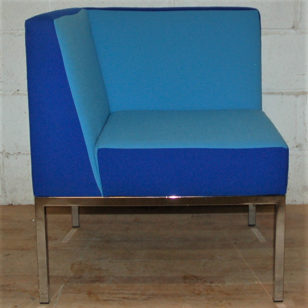 Set of 3 MARTELA Cube Armchair Blue 3033 MARTELA