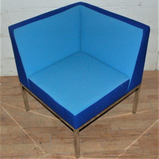 Set of 3 MARTELA Cube Armchair Blue 3033
