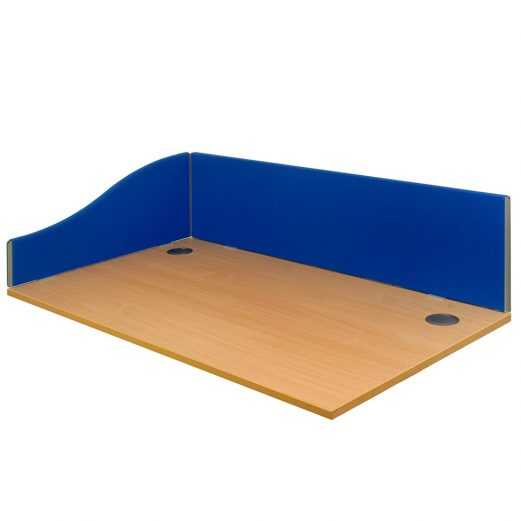 EL Desk Mounted Partitions Lucia Fabric