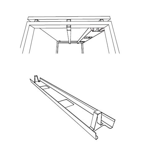 Single Cable Tray for Astro Bench Desks