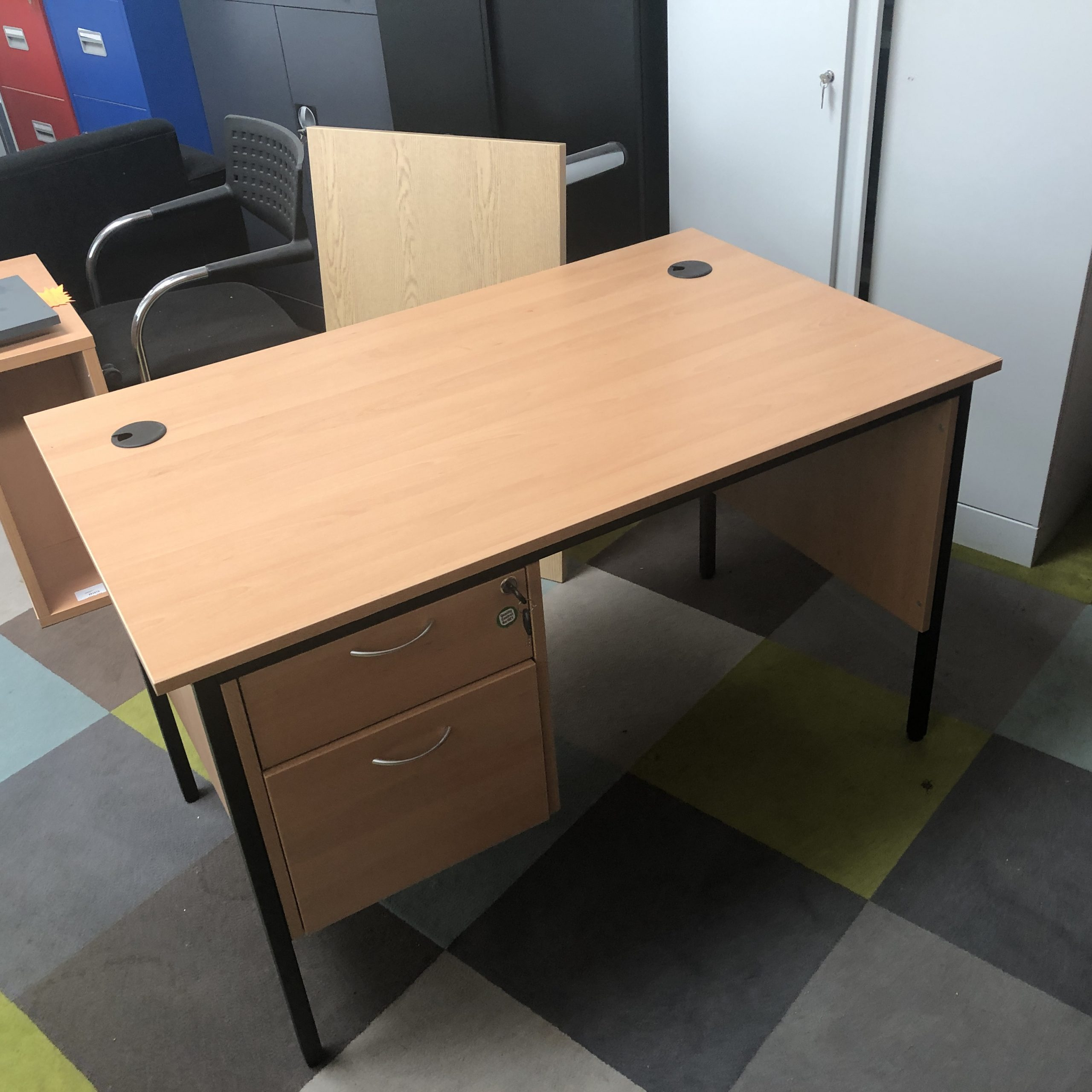 Small Office Desk With Drawers 11160