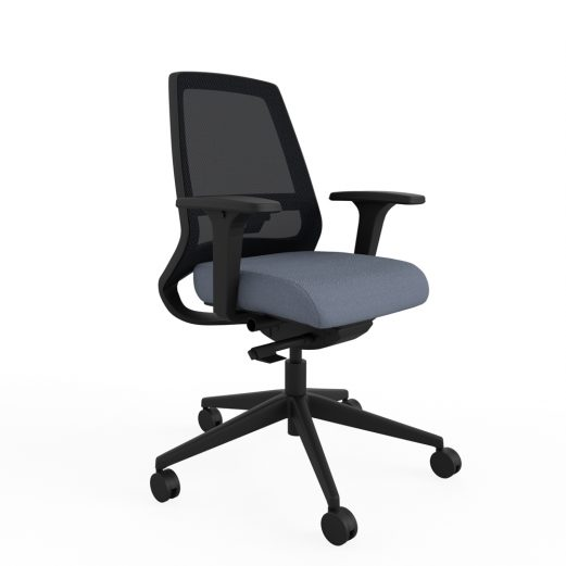 Fixed Height Backrest With adjustable lumbar panel for extra support in the lower back, adding comfort while seated.