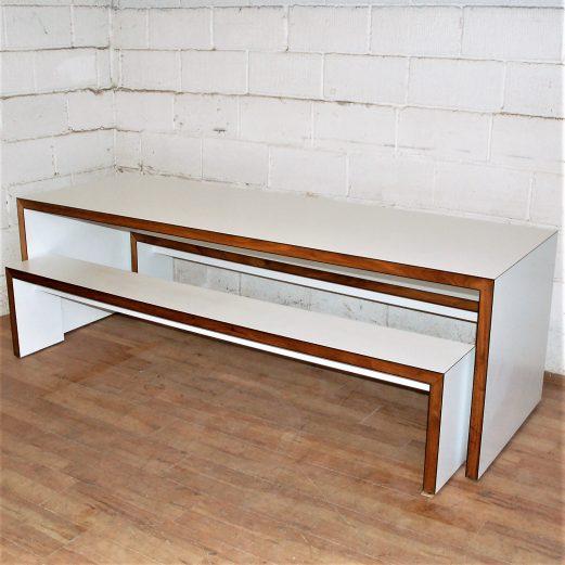 JAMES BURLEIGH Waldo45 Table and 2xBench Set 15112
