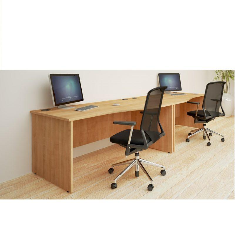 Hawk Panel Straight Desk