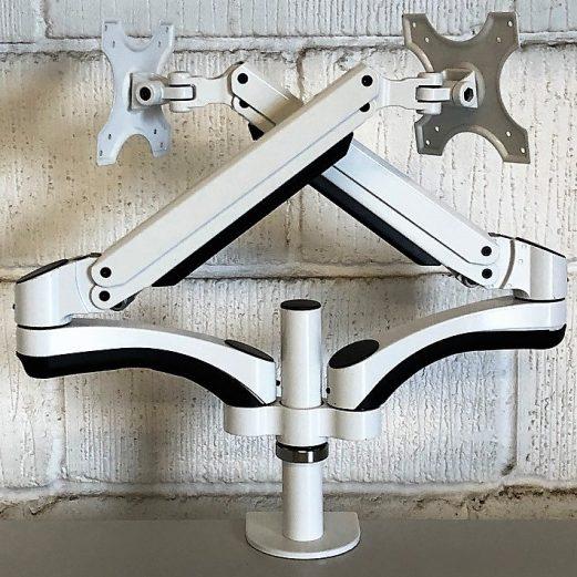 Double Monitor Arm White 9105